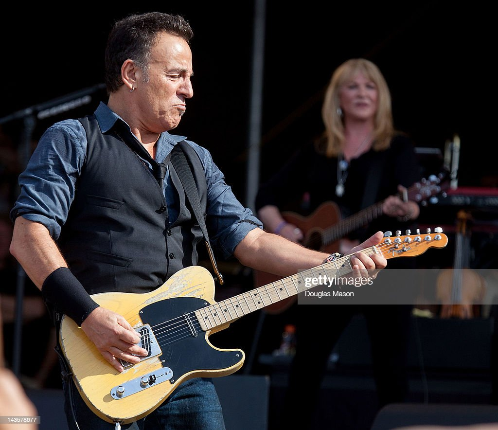 Bruce Springsteen and the E Street Band performs during the 2012 New Orleans Jazz & Heritage Festival at the Fair Grounds Race Course on April 29, 2012 in New Orleans, Louisiana.
