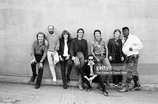 Bruce Springsteen and the E Street Band pose for a portrait in September 1984 at Spectrum Stadium in Philadelphia Pennsylvania