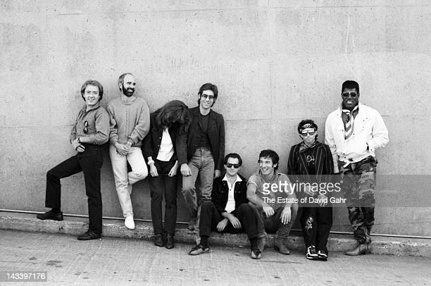 Bruce Springsteen and the E Street Band pose for a portrait in September 1984 at Spectrum Stadium in Philadelphia Pennsylvania
