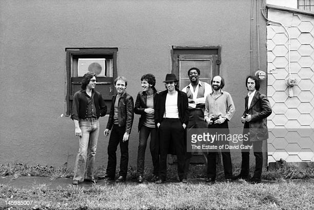Bruce Springsteen and the E Street Band pose for a portrait on October 17 1979 in Red Bank New Jersey