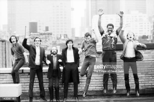 Bruce Springsteen and the E Street Band pose for a portrait on the roof of the Power Station recording studios during sessions for the 1981 album The...