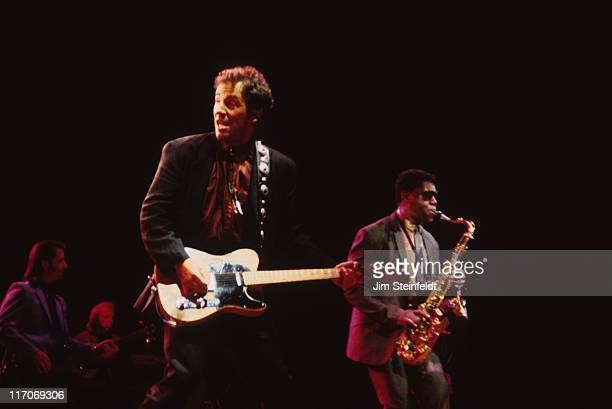 Bruce Springsteen and the E Street Band with Clarence Clemons perform on the Tunnel of Love Express Tour at the Met Center in Bloomington Minnesota...