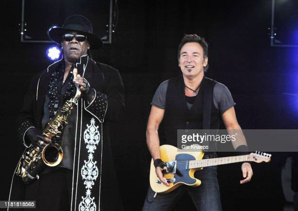 Bruce Springsteen and The EStreet Band Bruce Springsteen Clarence Clemons Pinkpop Festival Landgraaf Netherlands 30th May 2009