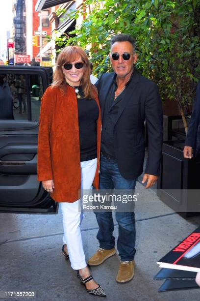 Bruce Springsteen and wife Patti Scialfa seen out and about in Manhattan on September 27 2019 in New York City
