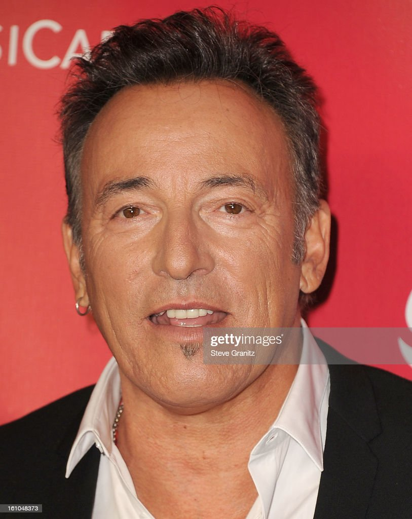 Bruce Springsteen arrives at the 2013 MusiCares Person Of The Year Honoring Bruce Springsteen at Los Angeles Convention Center on February 8, 2013 in Los Angeles, California.