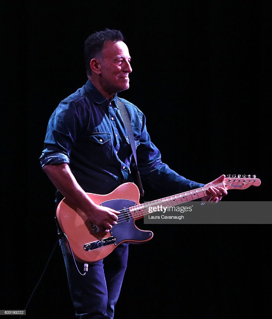 Bruce Springsteen attends 10th Annual Stand Up For Heroes - Show at The Theater at Madison Square Garden on November 1, 2016 in New York City.