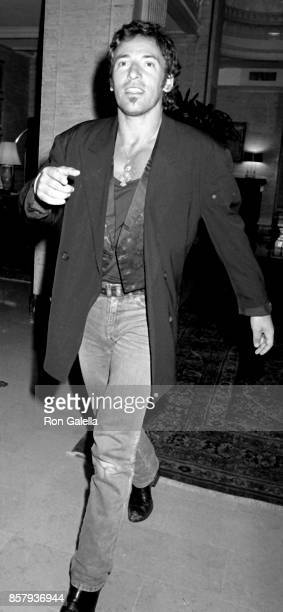 Bruce Springsteen attends Sting Concert After Party on August 24 1988 at the Canal Bar in New York City