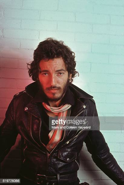 Bruce Springsteen backstage at Hammersmith Odeon London before his first UK show 18th November 1975
