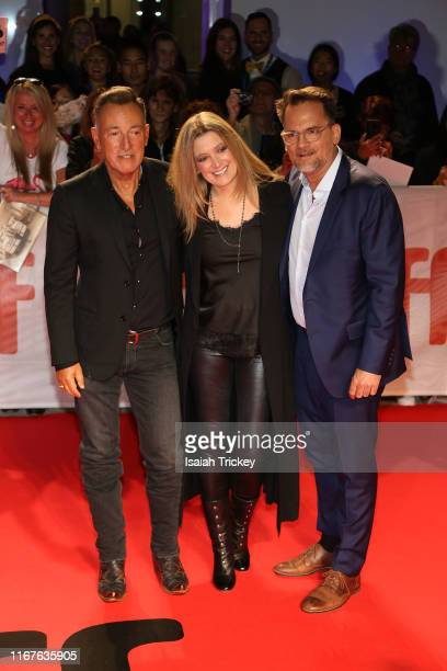 Bruce Springsteen Carolyn Blackwood and Thom Zimny attend the Western Stars premiere during the 2019 Toronto International Film Festival at Roy...