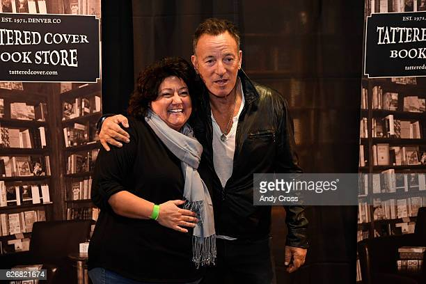 Bruce Springsteen fan Andrea Ives has her picture taken with super rocker Springsteen at the Tattered Cover book store on E Colfax November 30 2016...