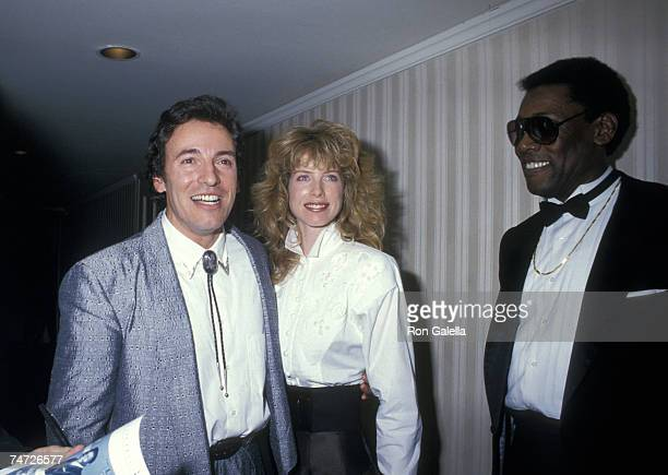 Bruce Springsteen Julianne Phillips and Guest at the Waldorf Astoria Hotel in New York City New York