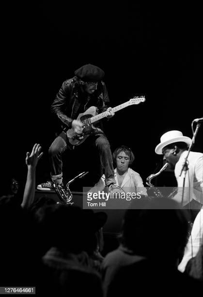 Bruce Springsteen , organist Danny Federici and saxophonist Clarence Clemons, perform with The E-Street Band at Alex Cooley's Electric Ballroom on...