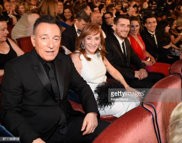 Bruce Springsteen Patti Scialfa Evan James Springsteen Jessica Rae Springsteen and Sam Ryan Springsteen are seen in the audience during the 72nd...