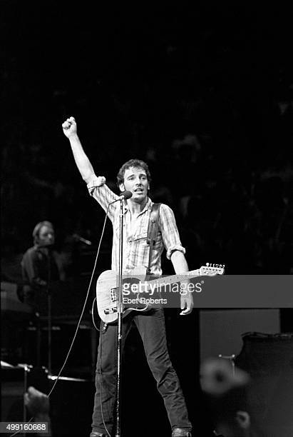 Bruce Springsteen performing at Madison Square Garden in New York City on November 27 1980