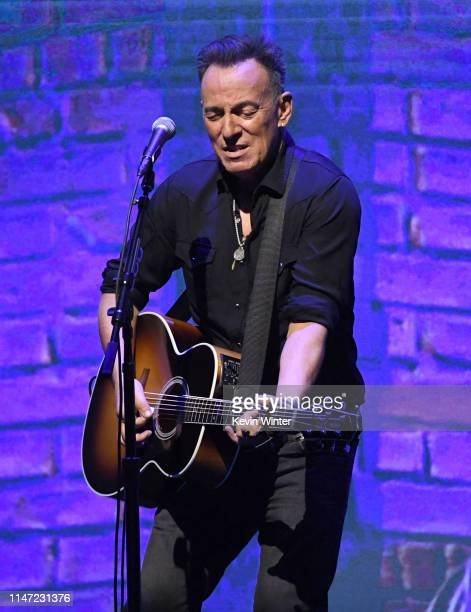 Bruce Springsteen performs at Netflix FYSEE Opening Night Springsteen On Broadway at Raleigh Studios on May 05 2019 in Los Angeles California