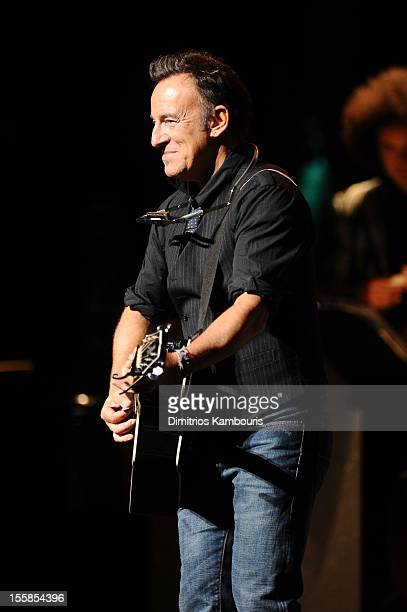 Bruce Springsteen performs at the 6th Annual Stand Up For Heroes at the Beacon Theatre on November 8, 2012 in New York City.