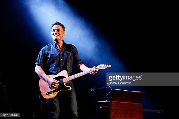 Bruce Springsteen performs at the 7th annual Stand Up For Heroes event at Madison Square Garden on November 6 2013 in New York City