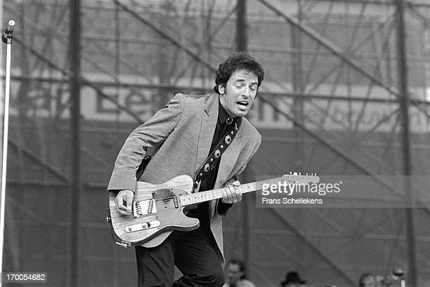 Bruce Springsteen performs at the Feijenoord Stadium in Rotterdam the Netherlands during the Tunnel Of Love tour on 28th June 1988