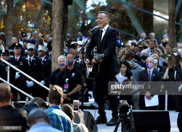 Bruce Springsteen performs at the National 9/11 Memorial and Museum ceremony commemorating the 20th anniversary of the 9/11 attacks on the World...