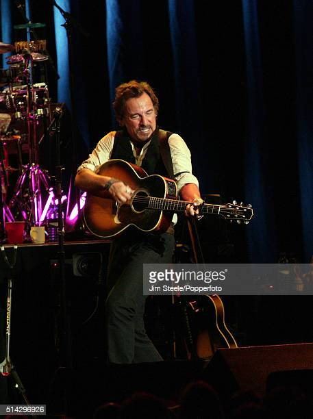 Bruce Springsteen performs at the Wembley Arena on November 11 2006 in London England