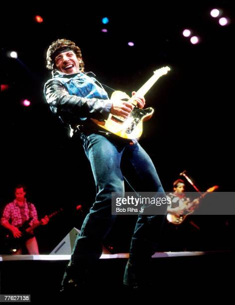 Bruce Springsteen performs during the last show of the 1985 'Born in the USA Tour'