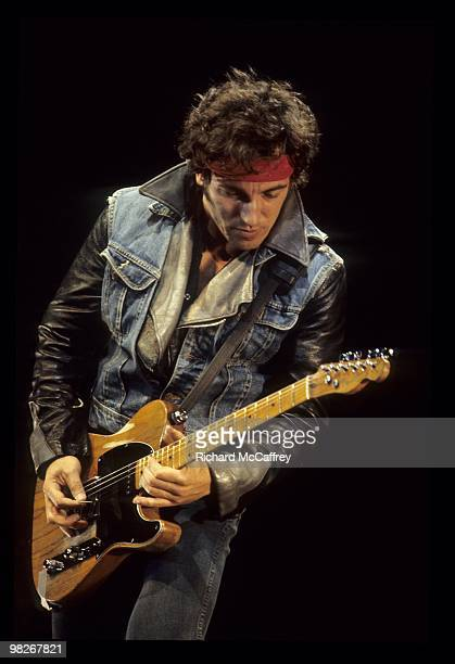 Bruce Springsteen performs live at The Oakland Coliseum in 1984 in Oakland California