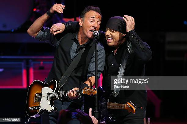 Bruce Springsteen performs live for fans at Perth Arena on February 5 2014 in Perth Australia