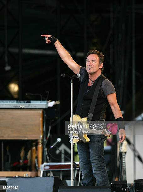 Bruce Springsteen performs live with his E Street Band on day one of the 40th Pinkpop Festival at Megaland on May 30 2009 in Landgraaf Netherlands