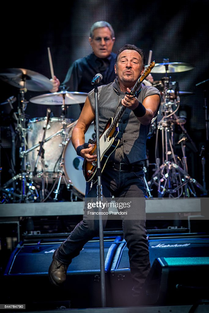 Bruce Springsteen Performs on July 3, 2016 in Milan, Italy.