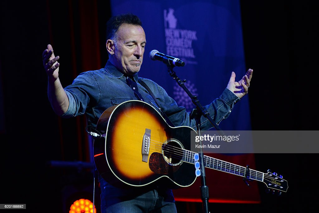 Bruce Springsteen performs on stage as The New York Comedy Festival and The Bob Woodruff Foundation present the 10th Annual Stand Up for Heroes event at The Theater at Madison Square Garden on November 1, 2016 in New York City.
