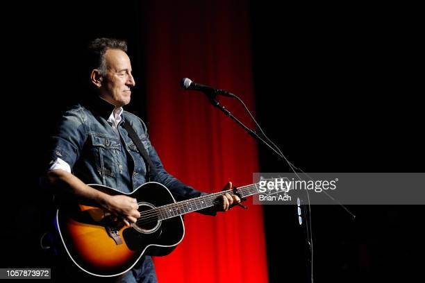 Bruce Springsteen performs on stage at The New York Comedy Festival and The Bob Woodruff Foundation present the 12th Annual Stand Up For Heroes event...