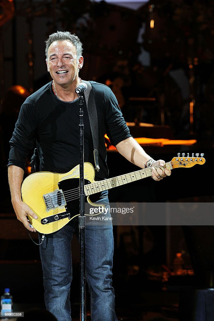 Bruce Springsteen performs on stage during the Almay concert to celebrate the Rainforest Fund's 21st birthday at Carnegie Hall on May 13, 2010 in New York City.