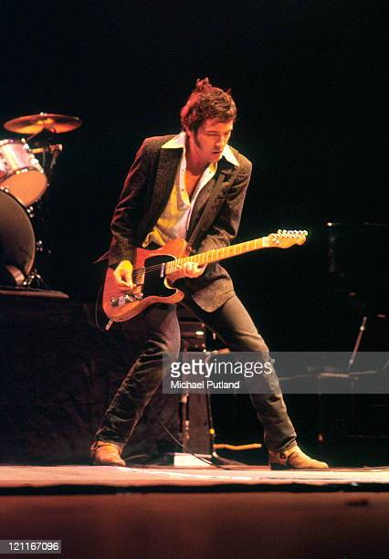 Bruce Springsteen performs on stage with the EStreet Band Wembley Arena May 1981