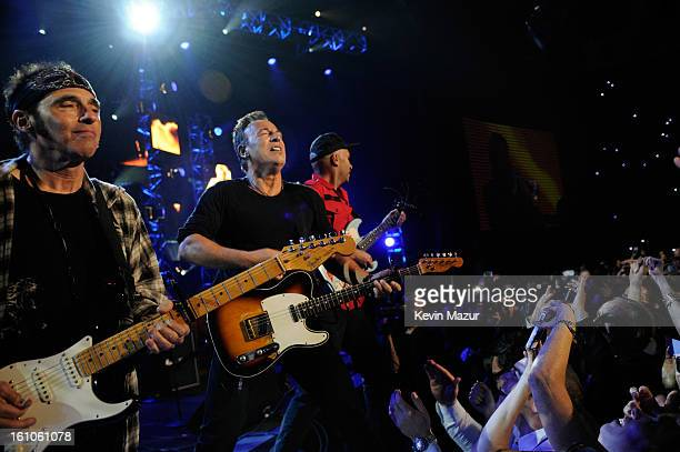 Bruce Springsteen performs onstage at MusiCares Person Of The Year Honoring Bruce Springsteen at Los Angeles Convention Center on February 8 2013 in...