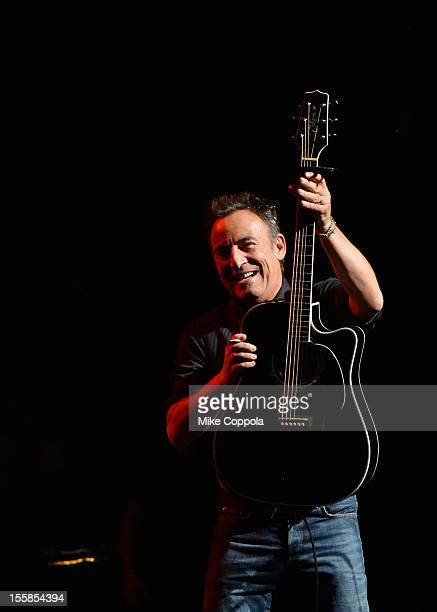 Bruce Springsteen performs onstage at the 6th Annual Stand Up For Heroes at the Beacon Theatre on November 8, 2012 in New York City.