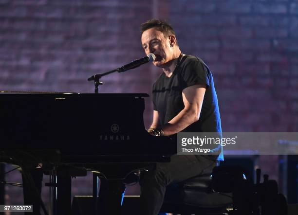 Bruce Springsteen performs onstage during the 72nd Annual Tony Awards at Radio City Music Hall on June 10 2018 in New York City