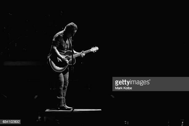 Bruce Springsteen performs onstage with the The E Street Band at Qudos Bank Arena on February 7 2017 in Sydney Australia