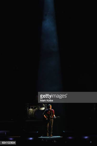 Bruce Springsteen performs onstage with the The E Street Band at Qudos Bank Arena on February 7, 2017 in Sydney, Australia.