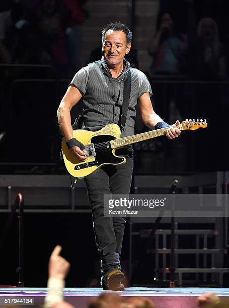 Bruce Springsteen performs with The E Street Band at Madison Square Garden on March 28 2016 in New York City
