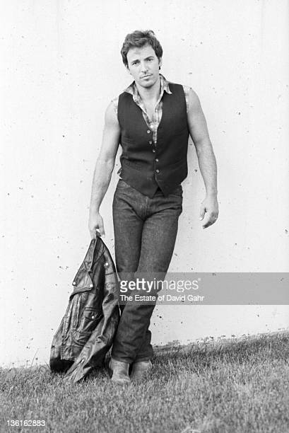 Bruce Springsteen poses for a portrait at Giants Stadium in September 1986 in East Rutherford New Jersey