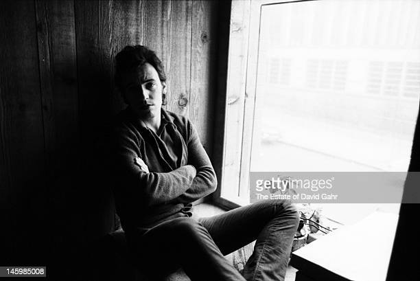 Bruce Springsteen poses for a portrait on March 25 1980 at the Power Station recording studio during sessions for the 1981 album The River in New...