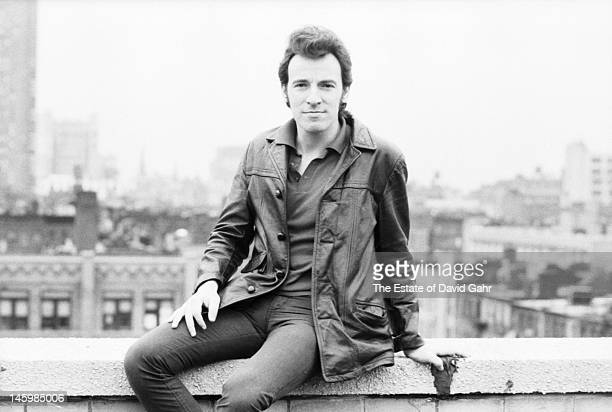 Bruce Springsteen poses for a portrait on March 25, 1980 on the roof of the Power Station recording studio during sessions for the 1981 album The...