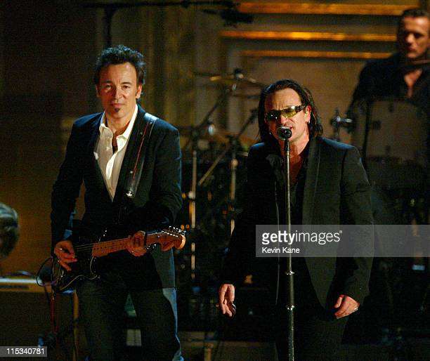 Bruce Springsteen presenter and Bono of U2 inductee