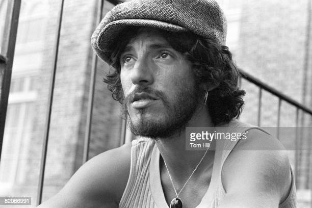 Bruce Springsteen takes a break from the soundcheck before performing with The E-Street Band at Alex Cooley's Electric Ballroom on August 22, 1975 in...