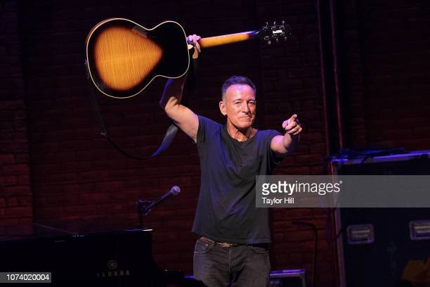 Bruce Springsteen takes his final Springsteen on Broadway curtain call at Walter Kerr Theatre on December 15 2018 in New York City