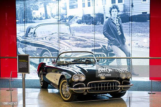 Bruce Springsteen's vintage 1960 Corvette is seen on display at the ' From Asbury Park To The Promised Land: The Life And Music Of Bruce Springsteen'...