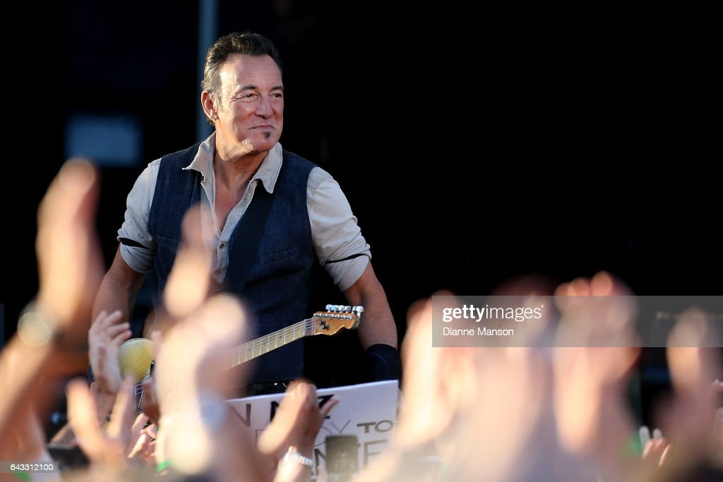 Bruce Springteen and the E Street Band perform during their Summer 17 Tour at AMI Stadium on February 21, 2017 in Christchurch, New Zealand.