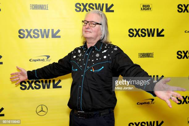 Bruce Sterling attends Disrupting Dystopia The Bruce Sterling Talk during SXSW at Austin Convention Center on March 13 2018 in Austin Texas