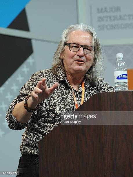 Bruce Sterling speaks onstage at Bruce Sterling Closing Remarks during the 2014 SXSW Music Film Interactive Festival at Austin Convention Center on...