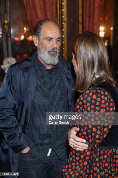 Bruce Sudano and Buying Director Matchesfashioncom Natalie Kingham attend the Matchesfashioncom x Fabrizio Viti dinner at The Travellers Club on...